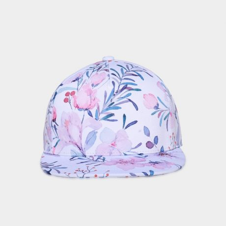 3D Printing Cap, Small Fresh Flowers Women Baseball Cap, Bone Cotton Adjustable  Snapback 1