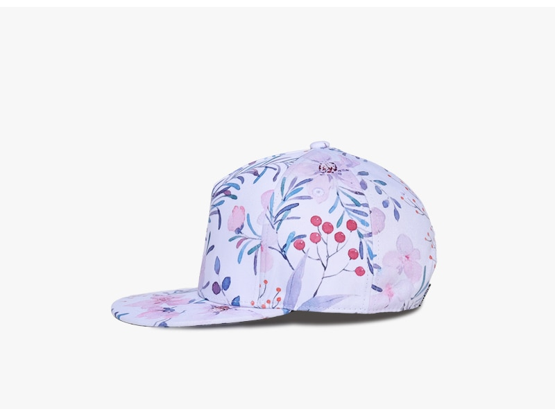 3D Printing Cap, Small Fresh Flowers Women Baseball Cap, Bone Cotton Adjustable Snapback 4