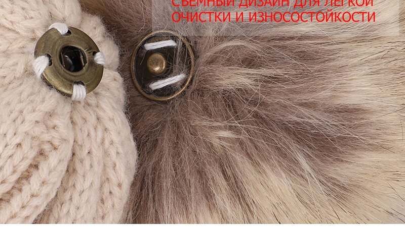 Children's Autumn, Winter Knitted Cotton Hat, Warm, Comfortable Solid Color Fashion Cap 19