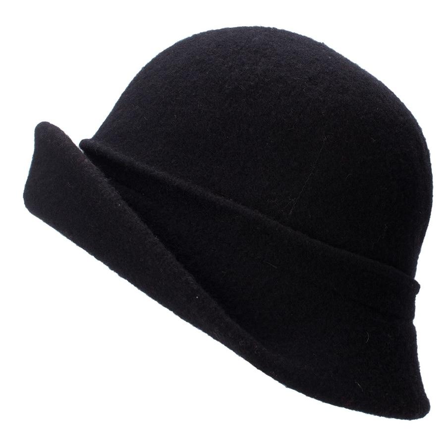 Women Cloche Hat, Wool Fedoras Hat, , Women's Fashion Soft Leaves Fur Bobbles Bucket Hat 17