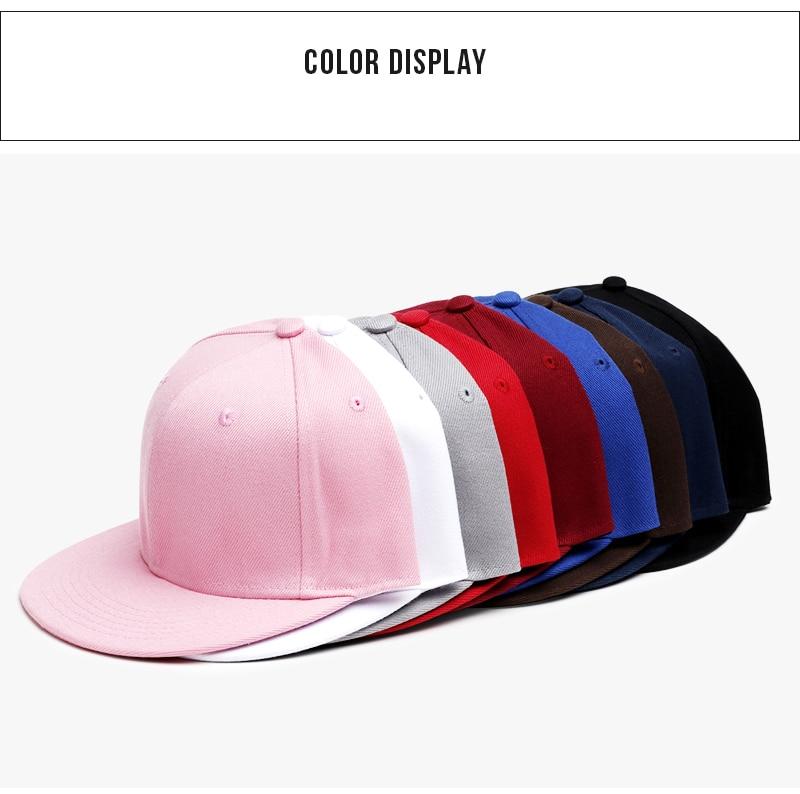 Polyester Cotton Unisex Hip Hop Cap, Simple Classic Caps 12