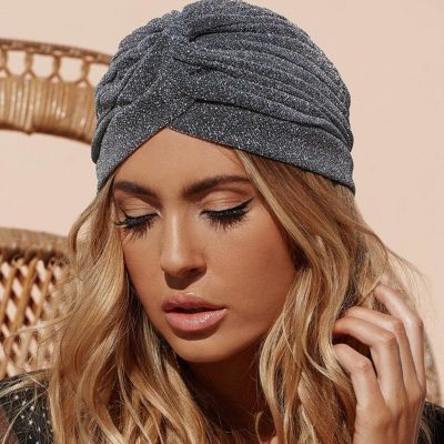 Knitted Knot Turban Cap, Women's Winter Warm Skullies & Beanies