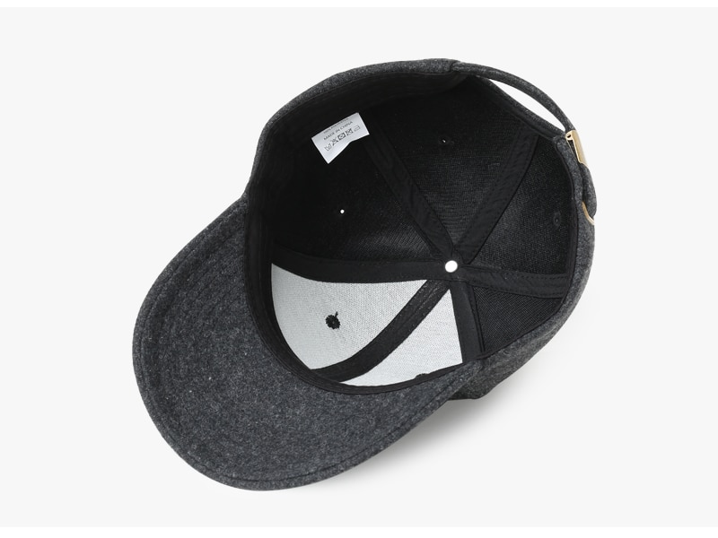 Brand NUZADA Autumn Winter Keep Warm Snapback Bone Men Women Baseball Caps Hats Cap Simpl Color Black Grey Woolen 15