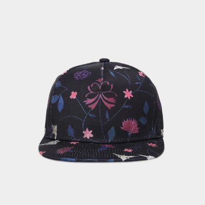 Unisex 3D Printing Hip Hop Cap, Fashion Design Flowers Polyester Cotton Neutral Cap