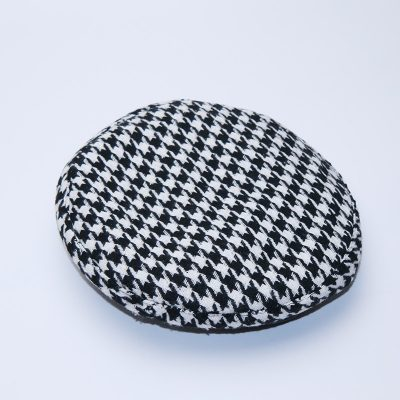 New Plaid Beret Hat, Women's French Beret, Hounds Tooth Beret, Adjustable