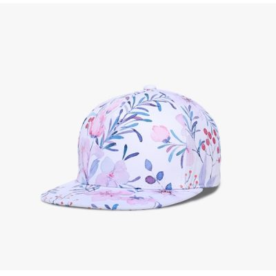 3D Printing Cap, Small Fresh Flowers Women's Baseball Cap, Bone Cotton Adjustable  Snapback