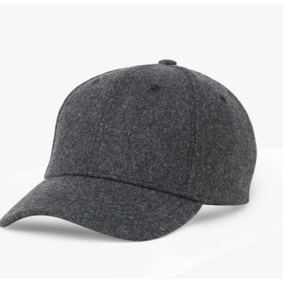 Men', Women's Baseball Cap, Simple Black Or Grey Woolen Cap