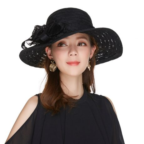 Elegant Fashion Hat, Women's Sexy Floral, Crown Vintage Style, Dressy Sun Hat 1
