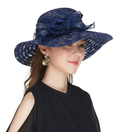 Elegant Fashion Hat, Women's Sexy Floral, Crown Vintage Style, Dressy Sun Hat 3